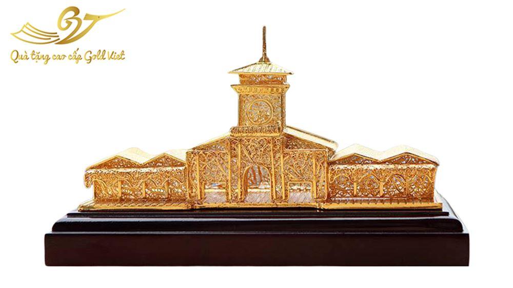Mô Hình Chợ Bến Thành mạ vàng