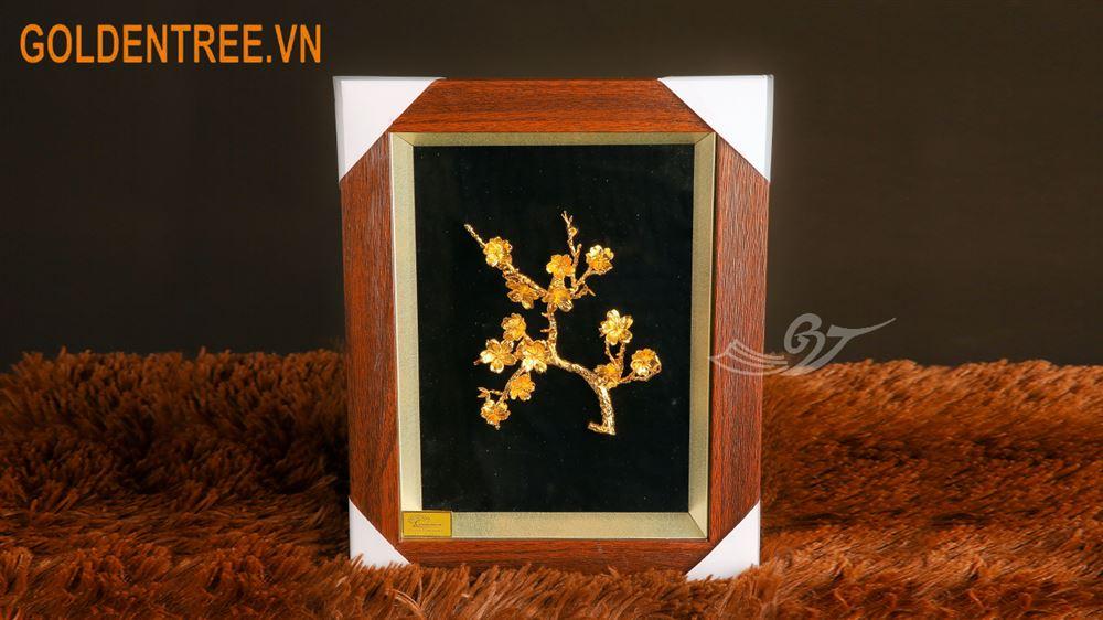 tranh hoa đào mạ vàng 2