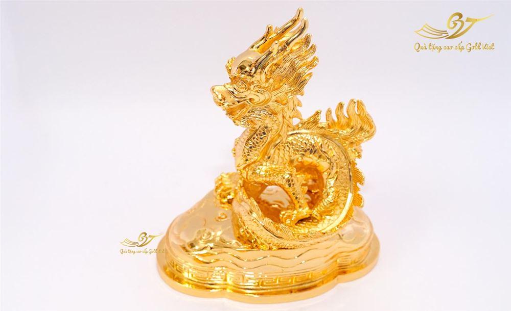 Tượng Rồng Phong Thủy Mạ Vàng (Cỡ Vừa)- Quà Tặng Mạ Vàng Cao Cấp