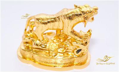 Tượng Hổ Phong Thủy Mạ Vàng - Tượng Linh Vật Cỡ Lớn