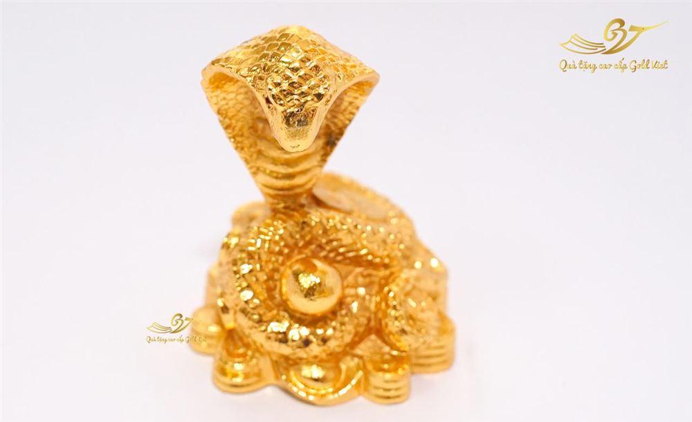 Tượng Rắn Phong Thủy Mạ vàng ( size nhỏ )