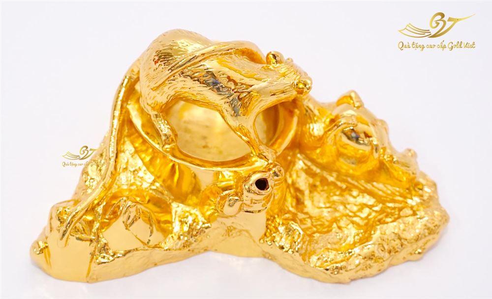 Gạt Tàn Chuột Mạ Vàng