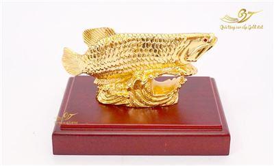 Tượng cá rồng mạ vàng (cỡ nhỏ)