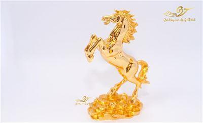 Tượng ngựa phong thủy mạ vàng (loại lớn)