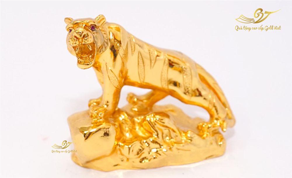Tượng Hổ Uy Vũ Mạ Vàng