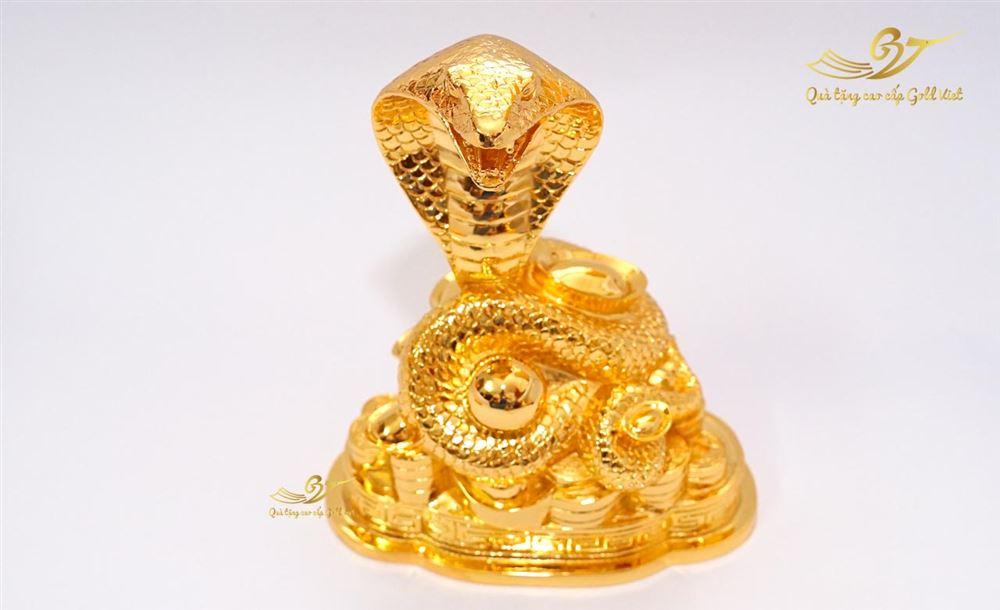 Tượng Rắn Phong Thủy Mạ Vàng (Size lớn)
