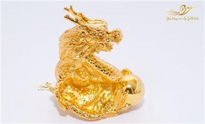 Tượng Rồng Phong Thủy Mạ Vàng - Tượng Linh Vật Cỡ Nhỏ