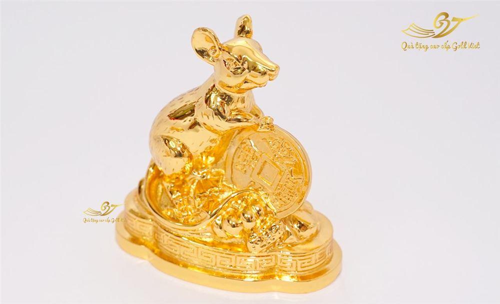 Tượng Chuột Phong Thủy Mạ Vàng - Tượng Linh Vật Cỡ Nhỏ