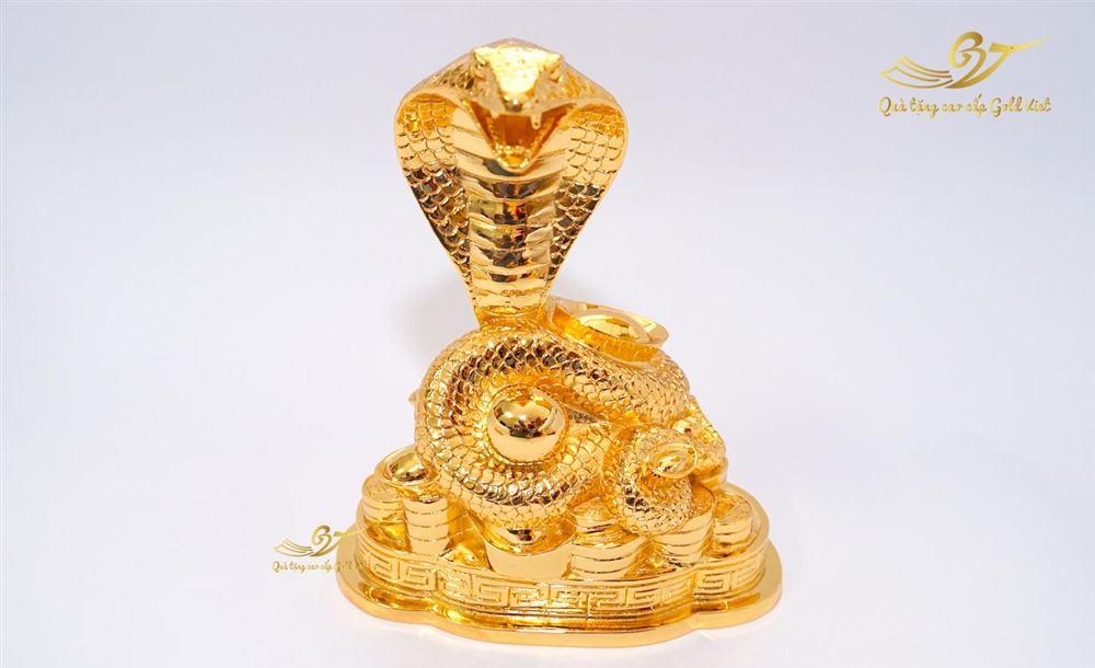 Tượng Rắn Phong Thủy Mạ Vàng Cỡ Đại