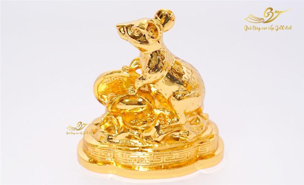 tượng chuột mạ vàng 1