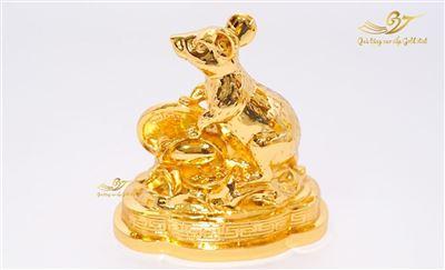 Tượng Chuột Phong Thủy Mạ Vàng (Size lớn)