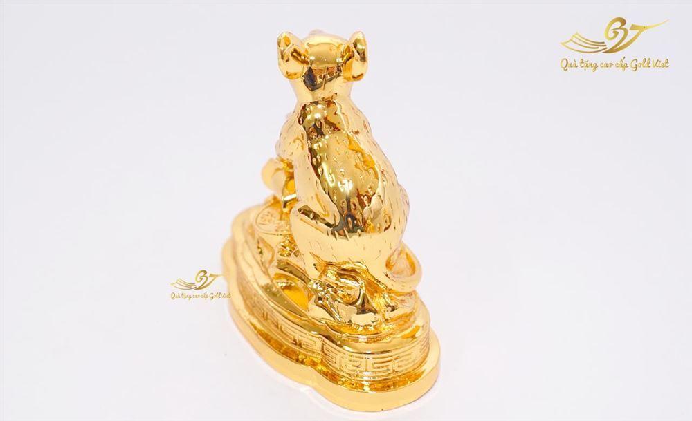 tượng chuột mạ vàng