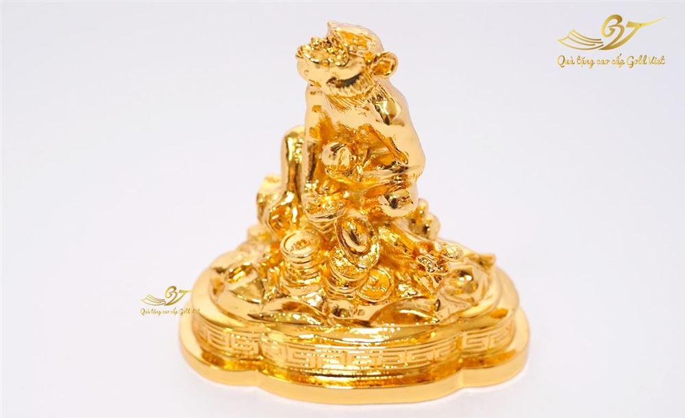 Tượng Khỉ phong thủy tài lộc mạ vàng (size bé )