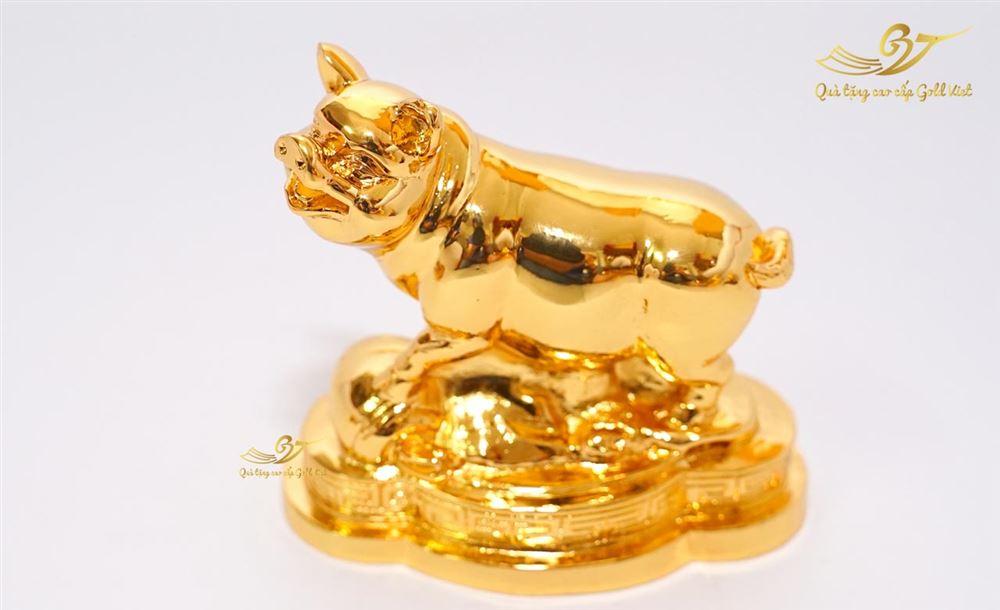 Tượng heo phong thủy mạ vàng cỡ đại