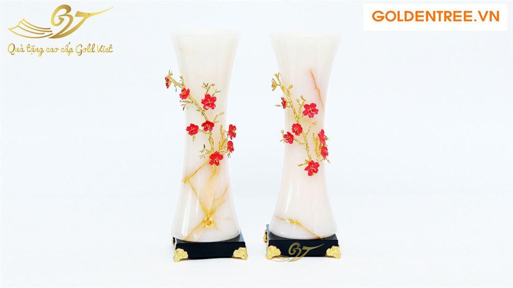 Bình ngọc đính hoa mạ vàng kiểu 1