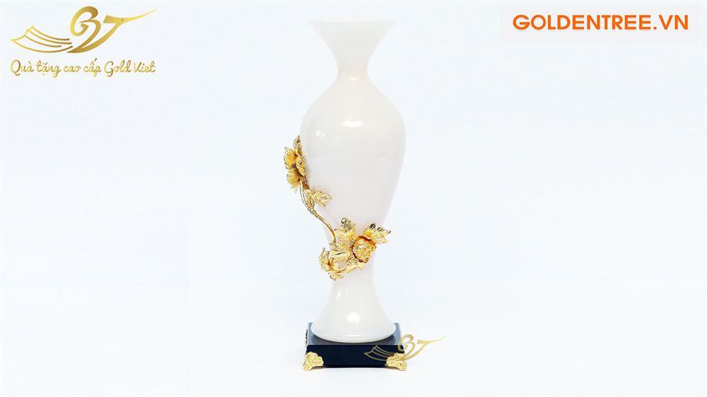 Bình ngọc đính hoa mạ vàng kiểu 5