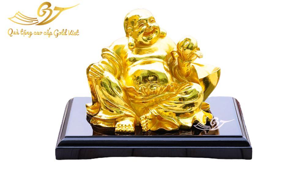 Tượng phật di lặc đào mạ vàng