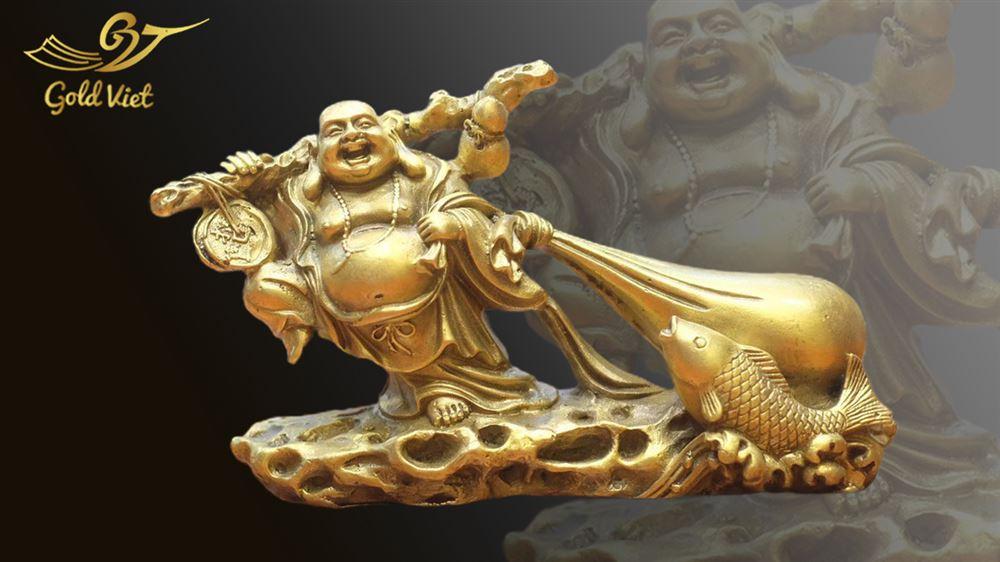 Tượng Phật Di Lặc Bằng Đồng - Kiểu 1