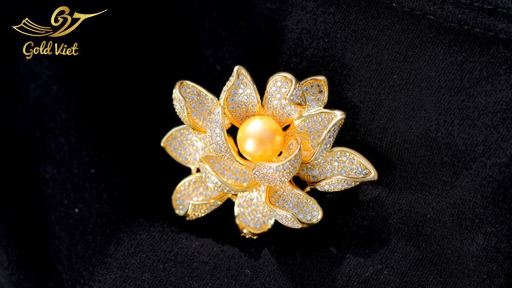 Hoa Cài Áo Mạ Vàng 24k - Mẫu 7