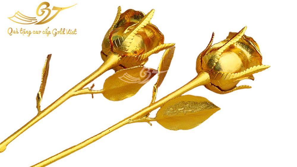 Hoa Hồng Mạ Vàng 24k- Quà Tặng Mạ Vàng Cao Cấp