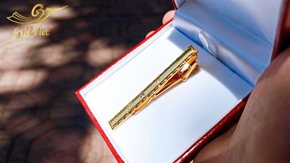 kẹp cà vạt mạ vàng 24k21