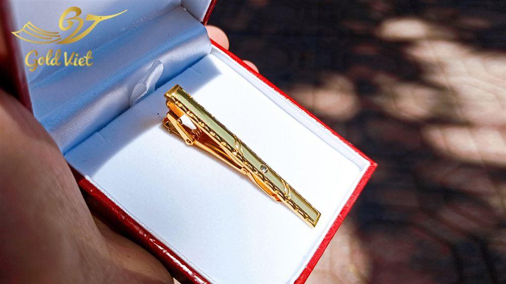 kẹp cà vạt mạ vàng 24k22