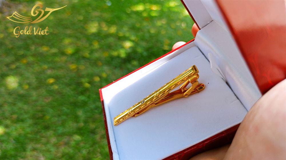 kẹp cà vạt mạ vàng 24k24