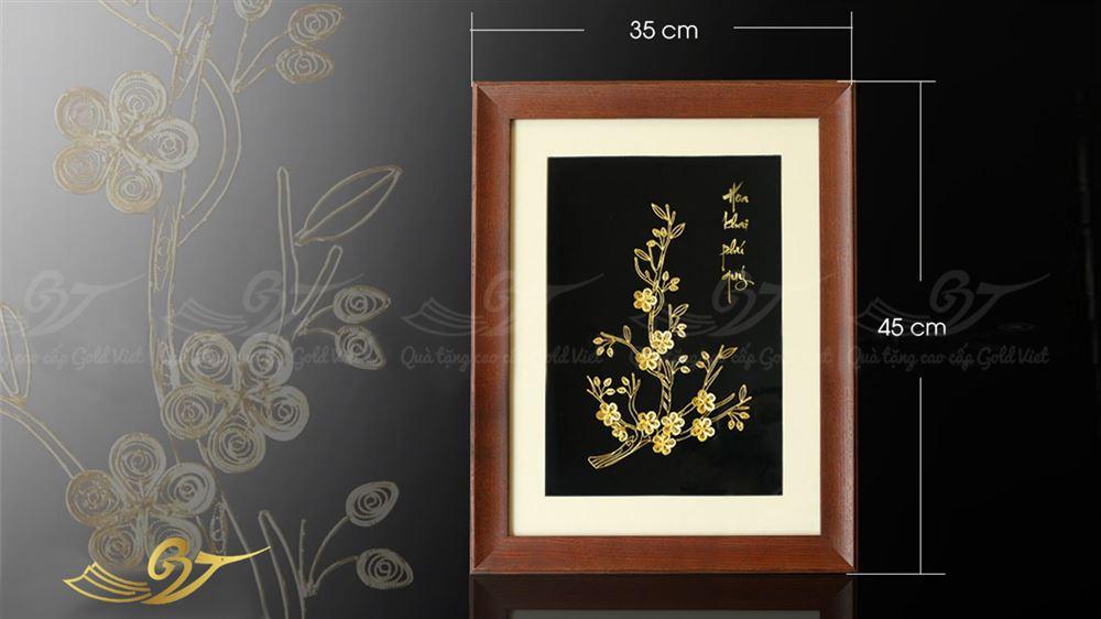 tranh hoa mai mạ vàng 1