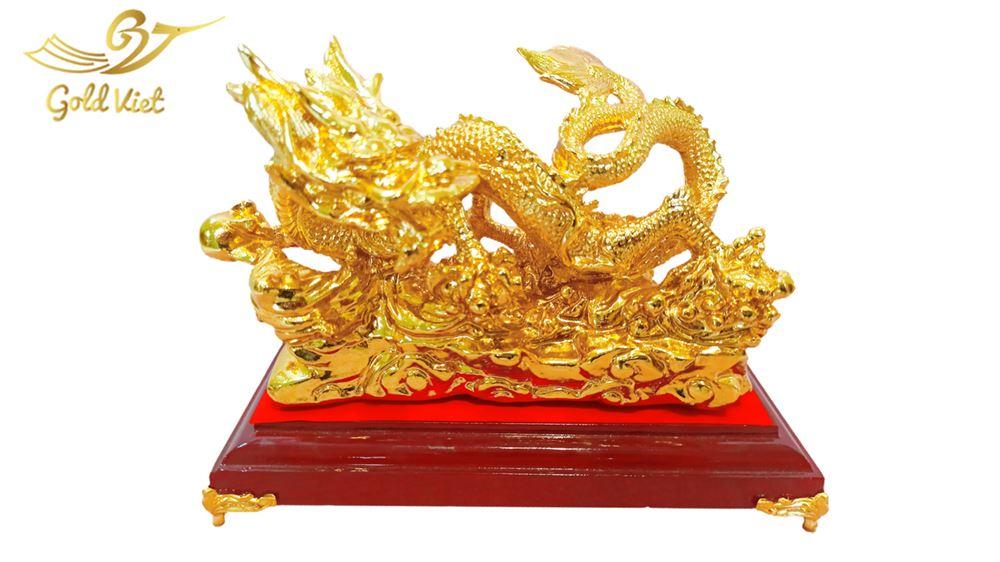 Tượng Rồng Vờn Mây Mạ Vàng