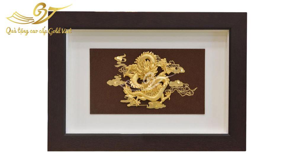 Tranh mạ vàng - Tranh rồng mạ vàng phú quý