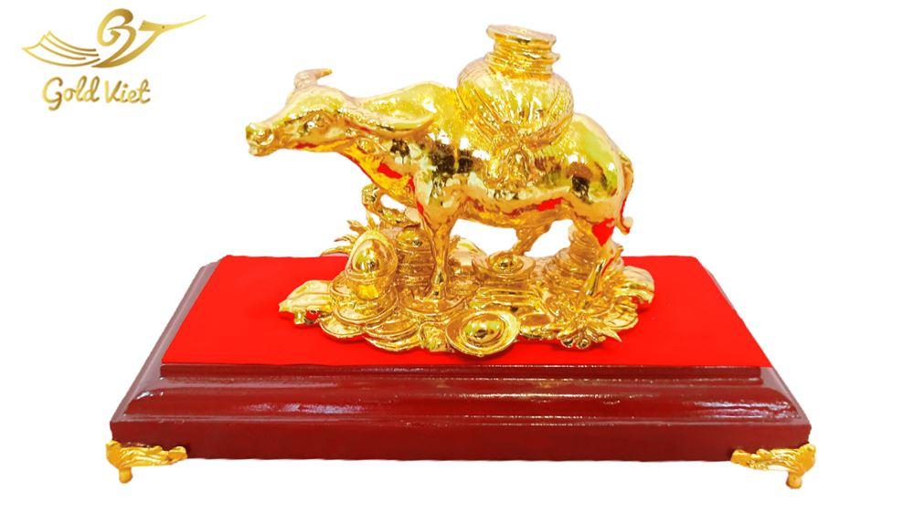 Tượng Trâu Phong Thuỷ Mạ Vàng 24k - Cỡ Vừa