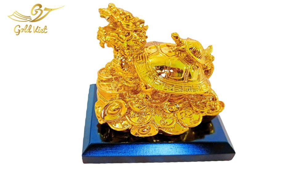 tượng long quy mạ vàng