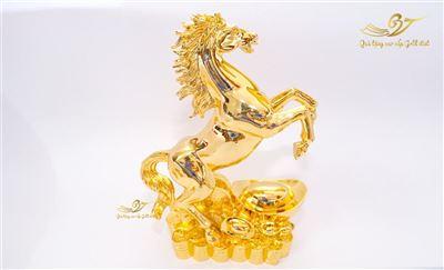 Tượng Ngựa Phong Thủy Mạ Vàng - Cỡ Đại
