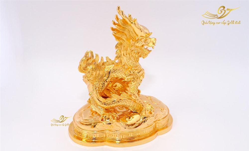 Tượng Rồng Phong Thủy Thời Nguyễn Mạ Vàng (Size Lớn)