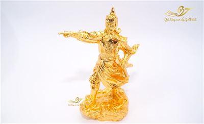 Tượng Trần Hưng Đạo Chỉ Tay Mạ Vàng - Cao 25cm
